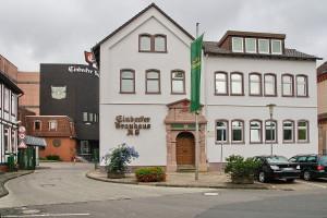 Das Gebäude der Einbecker Brauhaus AG